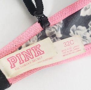 PINK Victoria's Secret Intimates & Sleepwear - Victoria's Secret pink black floral bra underwire